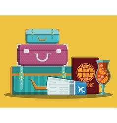 Travel icons design vector image
