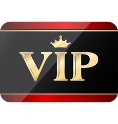 VIP gift card vector image