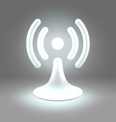 Wifi shining spot over gray vector image