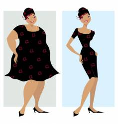 before and after diet vector image vector image