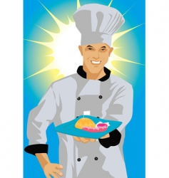 chef smiling vector image vector image