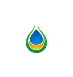 droplet ecology bio organic logo vector image vector image