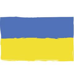 grunge ukraine flag or banner vector image