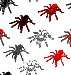 Halloween seamless pattern with black spiders vector image