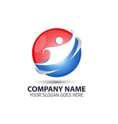 Human Technology Logo Icon vector image