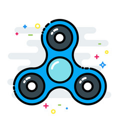 rotating fidget spinner toy colorful line isolated vector image vector image