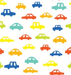 Seamless pattern with cars funny design vector image vector image