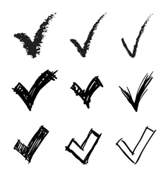 Set of hand drawn V signs vector image vector image