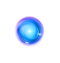abstract circle blue vector image vector image