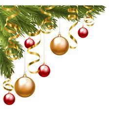 christmas border vector image vector image