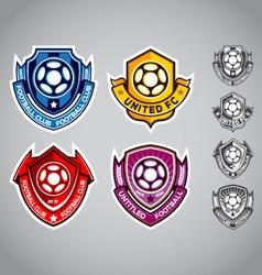 Emblem logo football vector