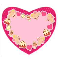 heart for valentines day vector image vector image
