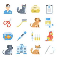 veterinary medicine cartoon set vector image