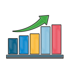 bar chart design vector image