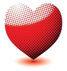 halftone love heart vector image vector image