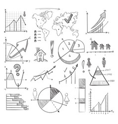 population demography doodle infographic vector image
