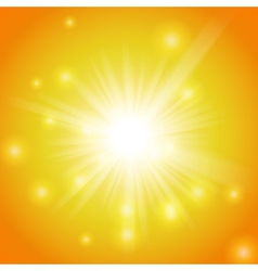 Abstract magic yellow light background vector image vector image