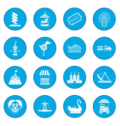 amusement park icon blue vector image
