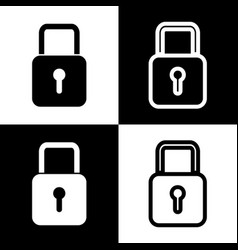 lock sign black and white vector image
