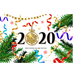 2020 new year background vector image