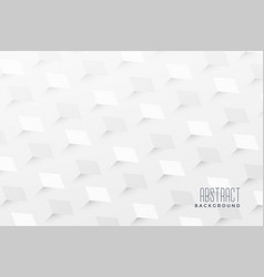 Abstract 3d zigzag style white pattern background vector