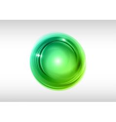 abstract circle green vector image