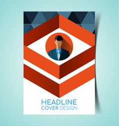 abstract report cover8 vector image