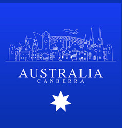 Australia travel landmarks vector