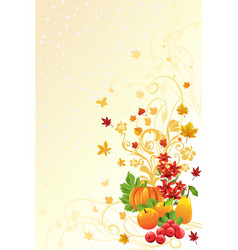 autumn or fall season background vector image