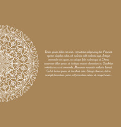 banner with flower mandala vector image