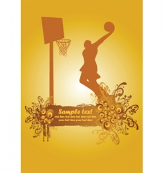 basketball poster3 vector image