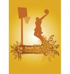 basketball poster3 vector image