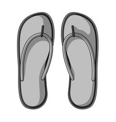beach flip flopssummer rest single icon in vector image