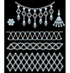 Bead adornments vector