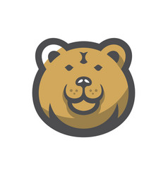 bear forest brown predator cartoon vector image