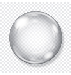 Big transparent glass sphere vector image