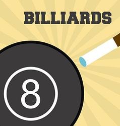 Billiards sport vector
