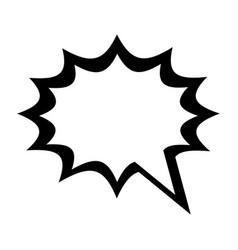 Blank onomatopoeia bubble icon image vector