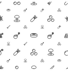 Bomb icons pattern seamless white background vector