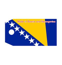 bosnia and herzegovina flag on price tag vector image