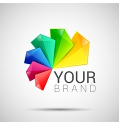 Business Abstract colorful logo on white vector