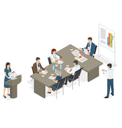 business people on meeting at office vector image