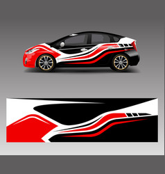 Car decal graphic abstract racing designs for vector