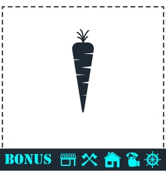 Carrot icon flat vector image