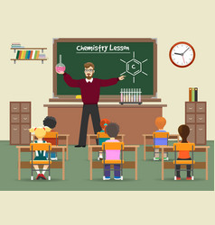 Chemistry lesson classroom vector
