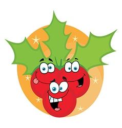 Christmas Holly Cartoon Characters vector image