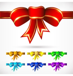 Colorful bows for various options vector image