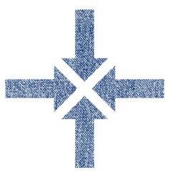 compress arrows fabric textured icon vector image