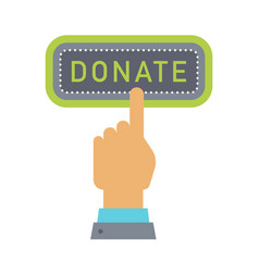 Donate button help icon donation vector
