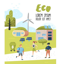 Environmental conservation eco alternative energy vector